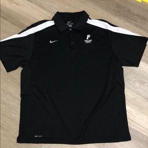 Men's Nike Dri-Fit black/white polo size XL
